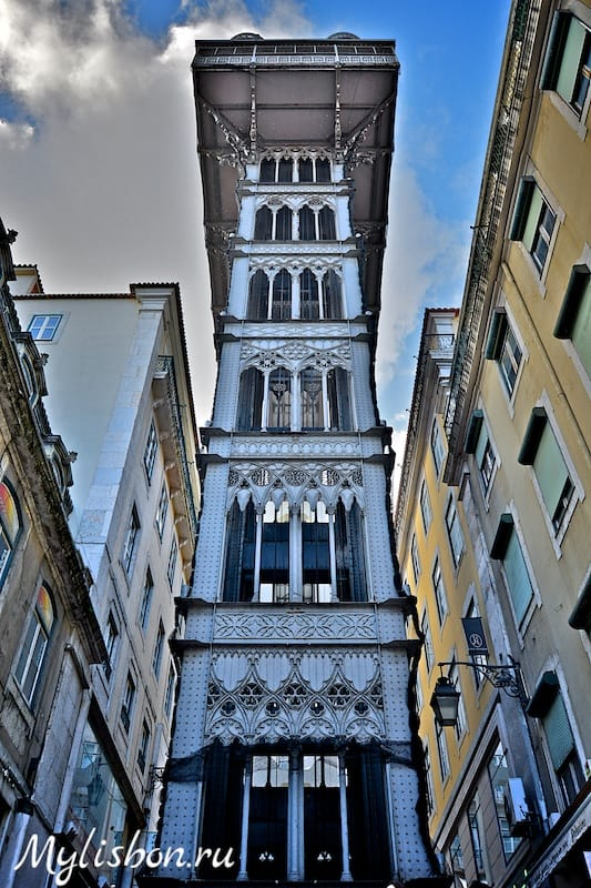 Лифт Санта Жушта в Лиссабоне (подъемник Санта Жушта)