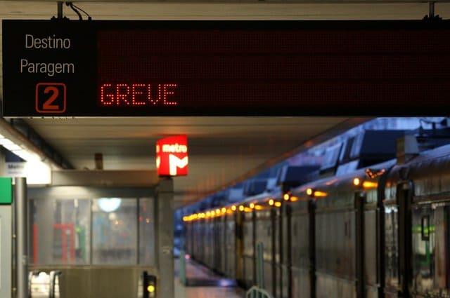 Lisboa - Greve transportes