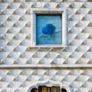 Фасад Дома с шипами в Лиссабоне