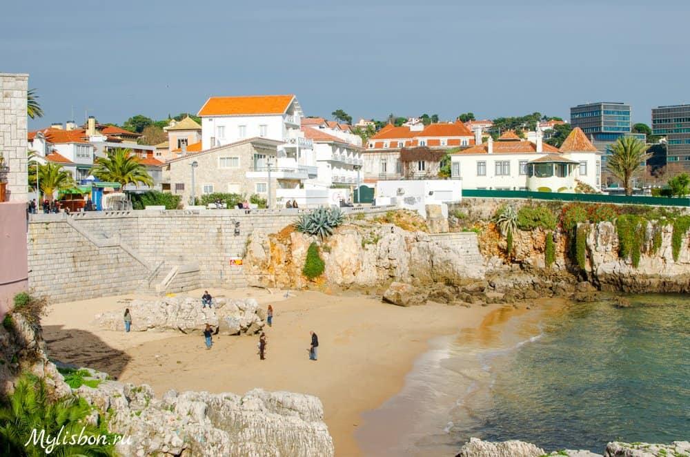 Пляж Прая да Раинья в Кашкайш (Praia da Rainha)