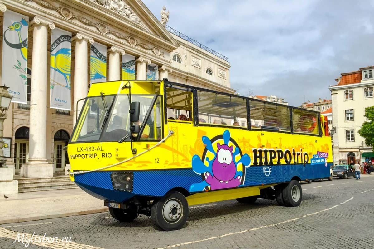 Автобус амфибия в Лиссабоне