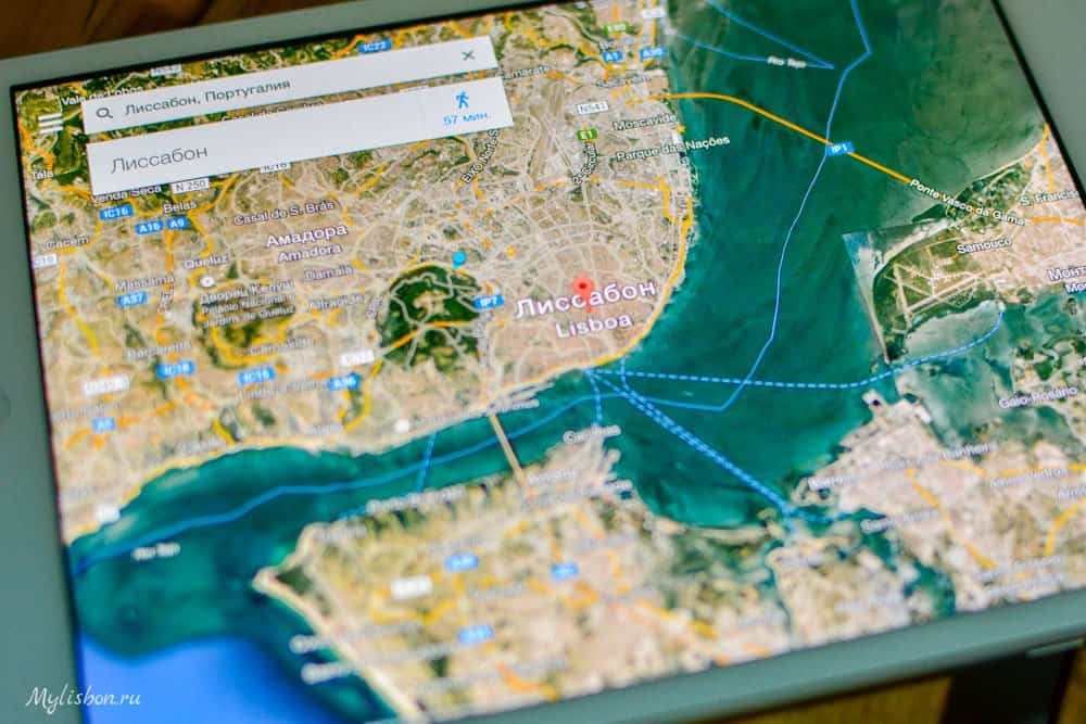 Лиссабон карта