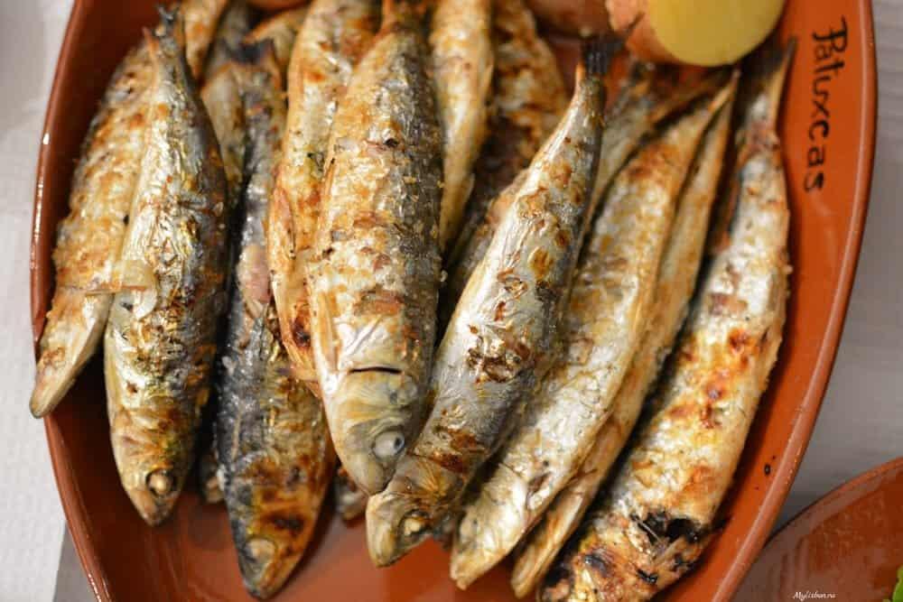 Португальскою блюдо - сардины